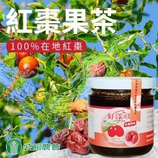 【公館農會】天然紅棗果茶-380g-罐(一罐組)