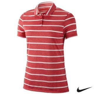 【NIKE 耐吉】Nike Dri-FIT Polo 女子高爾夫Polo 紅 AJ5232-657