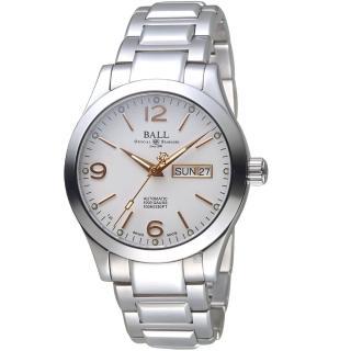 【BALL 波爾】Engineer III俄亥俄州機械錶(NM9126C-S14J-GY 白)