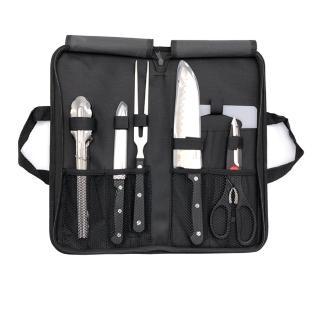 【韓國WONDERMAMA】露營刀具7件組(日式三德刀、多功能刀、廚叉、剪刀、防燙夾、砧板、提袋)