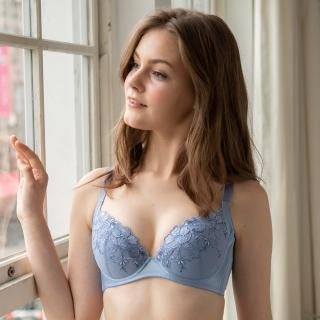 【Wacoal 華歌爾】華麗 B-D 罩杯內衣-蕾絲刺繡-絲棉內襯-豐胸圓潤-NB4413(藍)