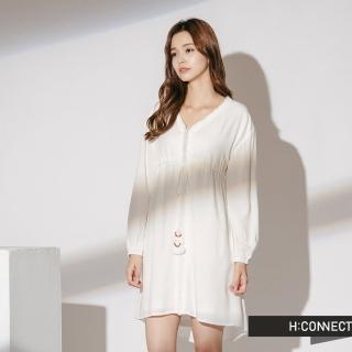【H:CONNECT】韓國品牌 女裝 - 民族風綁繩洋裝(白色)