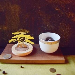 【TALES 神話言】金錢樹-聚寶盆-取材中國盆景的獨特技藝(中秋送禮 文創 禮品 禮物 收藏)