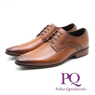 【PQ】素面側車線紳士德比鞋 男鞋(棕)