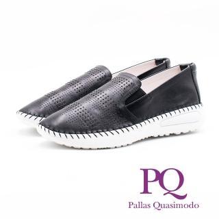 【PQ】氣質皮革休閒 女鞋(黑)