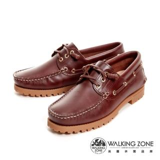 【WALKING ZONE】經典款 帆船雷根鞋 男鞋(咖啡)