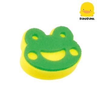 【Piyo Piyo 黃色小鴨】哈皮蛙 立體雙層沐浴海綿