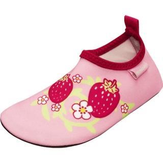 【德國Playshoes】抗UV水陸兩用沙灘懶人童鞋-草莓(認證防曬UPF50+兒童戶外涼鞋雨鞋運動水鞋)