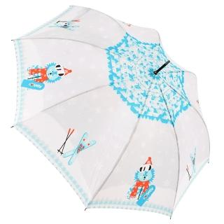 【rainstory】滑雪狐狸抗UV自動開直骨傘