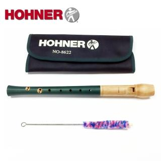 【Hohner 德國品牌】梨木 高音木笛直笛 英式 藍綠色(NO.8622)