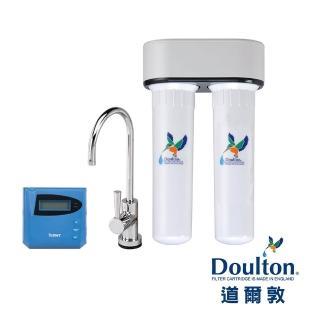 【DOULTON 道爾敦】陶瓷濾芯顯示型雙管塑鋼櫥下型淨水器(DIP-M12D)