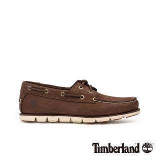 【Timberland】男款深棕色磨砂革帆船鞋(A26QS931)