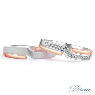 【DINA 蒂娜珠寶】橙色天堂 鑽石結婚對戒(情人鑽石對戒 系列)