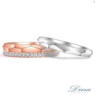 【DINA 蒂娜珠寶】微醺秋意 鑽石結婚對戒(情人鑽石對戒 系列)