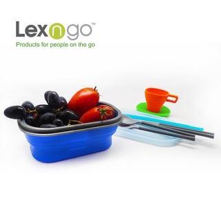 【Lexngo】可折疊餐盒套裝組(餐盒 碗盤 廚具 便當)