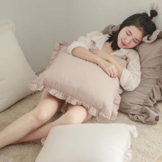 【翔仔居家】法式花邊 抱枕 50x50cm(單入-5色任選)