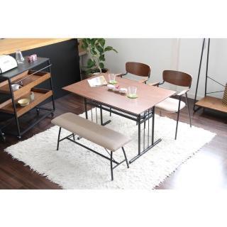 【FL 滿屋生活】ICHIBA 日系工業風可置物餐桌(LOFT/層板/收納/書桌/工作桌/餐桌)
