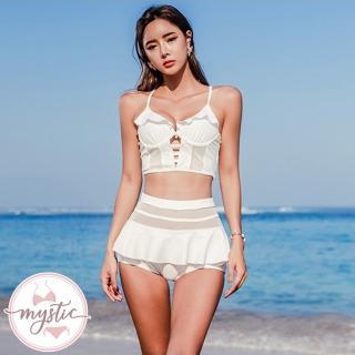 【mystic 神秘者】素色兩件式泳衣比基尼(兩件式泳衣 比基尼)
