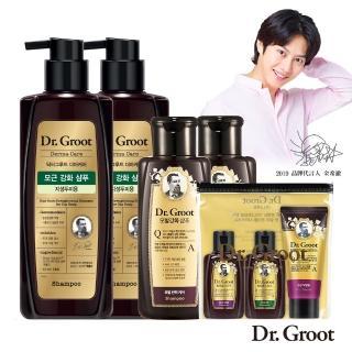 【Dr.Groot】養髮密帖洗髮精好評加量組(洗髮精400ml*2+200ml*2+旅行3件組)