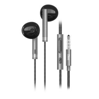 【iSee】智慧型手機專用通話及音樂金屬耳麥(IS-MHS766)
