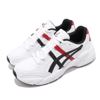 【asics 亞瑟士】休閒鞋 Gel-BND 復古 厚底 男鞋 亞瑟士 增高 皮革鞋面 老爹鞋 緩衝 白 紅(1021A217101)