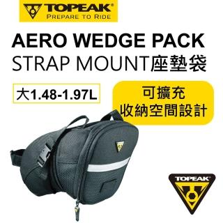 【TOPEAK】AERO WEDGE PACK 綁帶式坐墊袋-大