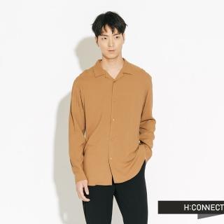 【H:CONNECT】韓國品牌 男裝 - 純色素面嫘縈襯衫(棕色)