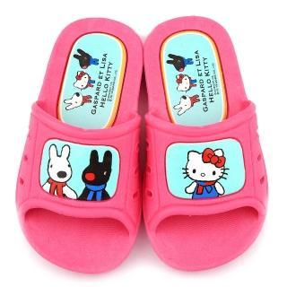 【童鞋城堡】室內外拖鞋 麗莎與卡斯柏xKitty(GK1306-粉)