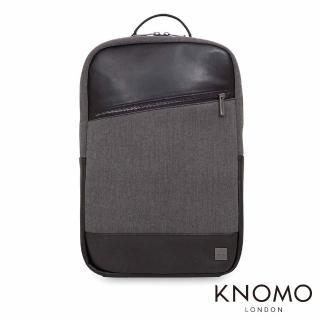 【KNOMO】英國 Southampton 電腦後背包(黑灰 15.6 吋)