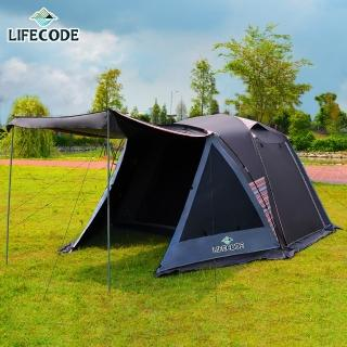 【LIFECODE】《倪克斯》黑膠抗陽光5人雙層防風帳篷