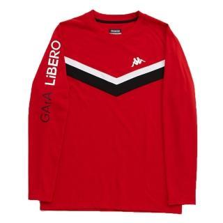 【KAPPA】型男吸濕排汗速乾EROI長袖色衫(大紅 黑 白)