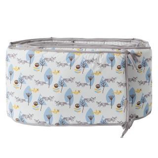 【FRESK】有機棉嬰兒防撞半床圍(藍色小狐狸)