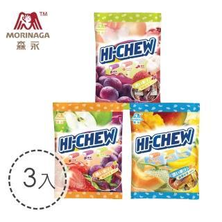 【台灣森永】嗨啾軟糖袋裝-3入組110g(綜合水果/特選水果/熱帶水果)