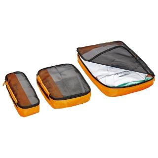 【GO TRAVEL】網紋衣物收納袋三件組-橙