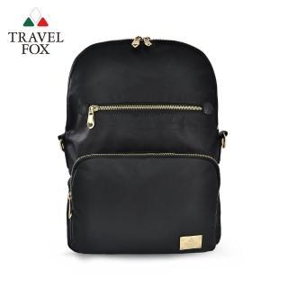 【TRAVEL FOX 旅狐】折疊式多口袋側背後背二用包 百變折疊(TB703-01 黑)