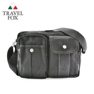 【TRAVEL FOX 旅狐】輕量雙層多口袋尼龍包(TB573-01 黑色)