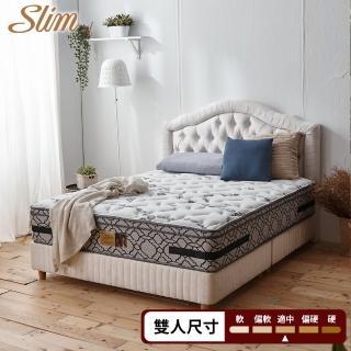 【SLIM奢華紓壓型】新一代銀離子蠶絲紓壓獨立筒床墊-雙人5尺