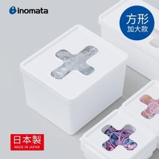 【日本製 INOMATA】方形十字抽取口小物收納盒-加大款