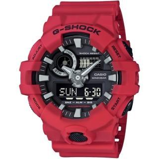 【CASIO 卡西歐】G-SHOCK 絕對強悍雙顯手錶(GA-700-4A)