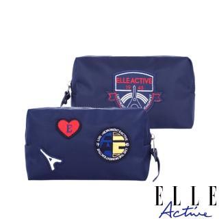 【ELLE active】巴黎遊記系列-化妝包-深藍色
