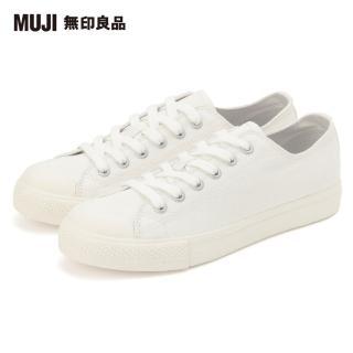 【MUJI 無印良品】女撥水加工有機棉舒適休閒鞋(共6色)