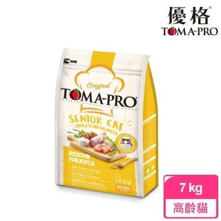 【TOMA-PRO 優格】經典系列貓飼料-高齡貓 雞肉+米 7 公斤(高纖低脂配方)