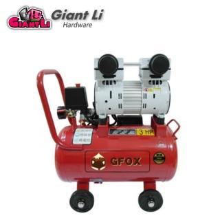 【加贈風管+噴槍 風霸】快速型 GFOX 無油式 雙缸 3HP 25L 110V/60Hz 空壓機 空氣壓縮機