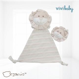 【Oragnic】有機棉獅子手帶鈴與安撫巾組