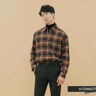 【H:CONNECT】韓國品牌 男裝 -亮彩格紋襯衫(藍色)