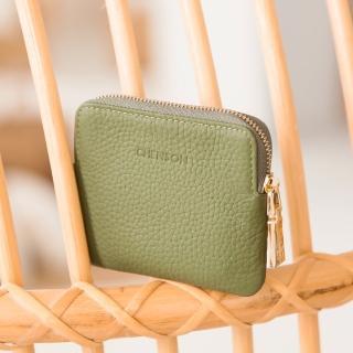 【CHENSON】真皮 簡約3卡零錢包/票卡夾 海松綠(W00820-G)