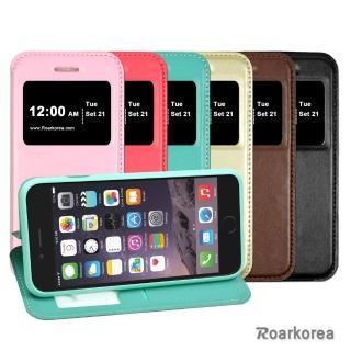 【Roarkorea】Apple iPhone 6 開框隱藏磁扣式翻頁質感皮套