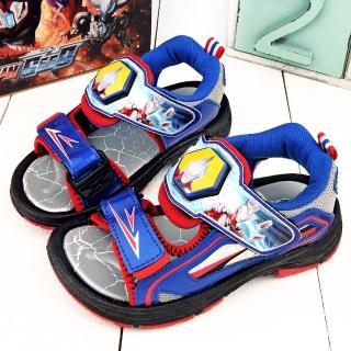 【童鞋城堡】超人力霸王 中大童 變身英雄LED燈涼鞋(UM4612-藍)