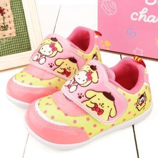 【童鞋城堡】Kitty X 布丁狗聯名款 中童 小清新圓點輕量動鞋(KT7180-黃)