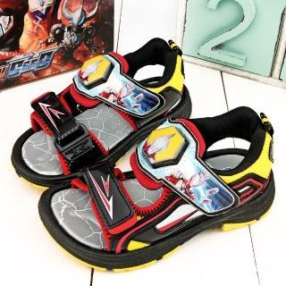 【童鞋城堡】超人力霸王 中大童 變身英雄LED燈涼鞋(UM4612-黑)